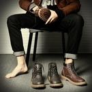 靴子 秋季馬丁靴男英倫中幫工裝男鞋潮男靴子好康新品高幫短靴百搭皮靴