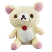 小禮堂 懶懶熊 牛奶熊 針織玩偶 毛線娃娃 毛線玩偶 小型玩偶 布偶 (S 米 坐姿) 5983164-11851