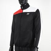 Yonex [17021TR007] 男 外套 運動 休閒 訓練 立領 吸濕 排汗 速乾 透氣 輕量 黑白紅