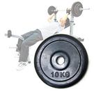 10KG包膠啞鈴槓片.槓鈴片.單片10公斤槓片.啞鈴.舉重量訓練.運動健身器材.推薦專賣店