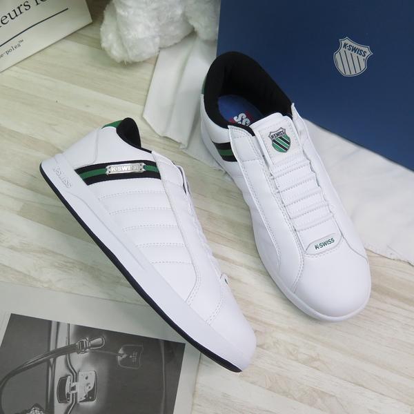 K-SWISS LUNDAHL SLIP-ON 男款 休閒鞋 06097184 白X綠 大尺碼【iSport愛運動】