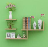 牆壁架子隔板牆上置物架 簡約客廳 書架電視背景壁挂裝飾4 首圖款