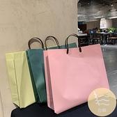 4個裝 糖果色手提袋服裝店袋子高檔包裝袋購物袋禮品袋【白嶼家居】