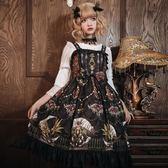 洛麗塔洋裝連身裙宮廷復古吊帶裙【聚寶屋】