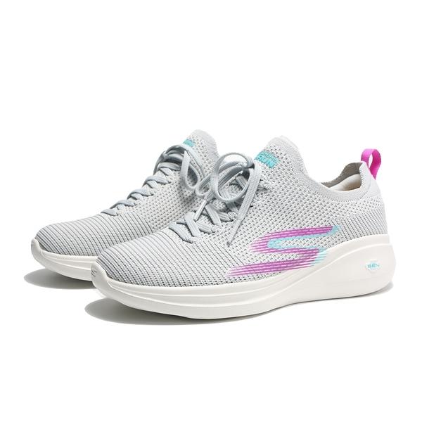 SKECHERS 慢跑鞋 GO RUN FAST 灰紫 編織 襪套式 休閒 女(布魯克林) 128186LGPR