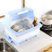 瀝水籃 廚房碗筷收納盒帶蓋瀝水碗碟籃特大號裝放盤子餐具置物箱碗柜塑料jj小c推薦