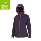 【瑞多仕 RATOPS 女 推毛防潑水夾克《暗茄紫色》】DH6-121/刷毛外套/中層衣/保暖外套