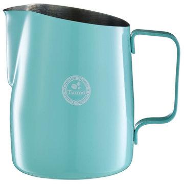 金時代書香咖啡 TIAMO 1503A 斜口拉花杯 650cc 蒂芬妮藍 圓口 HC7109TB