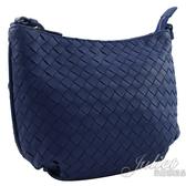 茱麗葉精品【全新現貨】BOTTEGA VENETA 522878 經典編織小羊皮小斜背包.藍