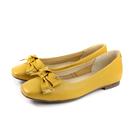HUMAN PEACE 休閒鞋 低跟 黃色 蝴蝶結 荔枝紋 女鞋 S249B no661