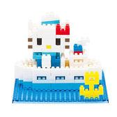 【日本KAWADA河田】Nanoblock迷你積木-Hello Kitty凱蒂貓海洋風場景組 NBH-057