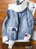 男士牛仔外套加絨流行韓版潮流寬鬆衣服帥氣春秋冬季工裝夾克 9號潮人館