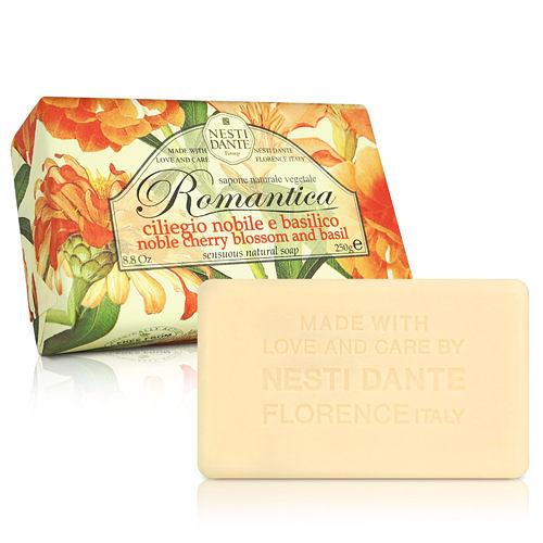 Nesti Dante  義大利手工皂-愛浪漫 生活風系列-羅勒和諾貝爾櫻花(250g)  【ZZshopping購物網】