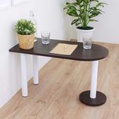 【頂堅】蛋頭形和室桌/矮腳桌/餐桌-深40x寬80x高45公分-二色深胡桃木色