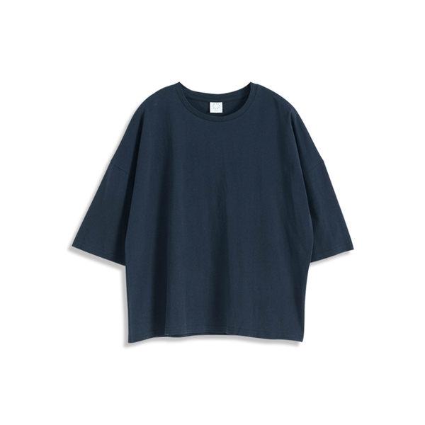 Queen Shop【01038053】純色八分袖圓領棉T 四色售*現+預*