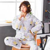 睡衣女冬季三 加厚珊瑚 睡衣套 秋冬天保暖法   棉 家居服