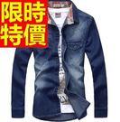 牛仔外套有型-街頭風造型簡單男單寧夾克2色54c1【巴黎精品】
