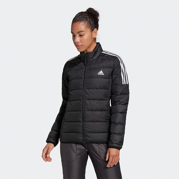 Adidas Essentials Down 女裝 羽絨外套 立領 休閒 保暖 口袋暗扣 黑/紅【運動世界】GH4593 / GH4597