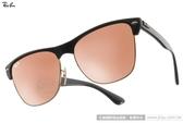 RayBan 太陽眼鏡 RB4175 877Z2 (金黑-水銀粉) 潮時尚個性眉框水銀鏡面款  # 金橘眼鏡