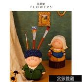 擺件 大美術館戴珍珠耳環少女客廳茶幾桌面家居裝飾