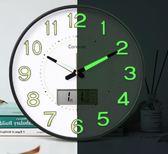 時鐘錶掛鐘客廳夜光創意現代簡約個性靜音時尚家用   IGO