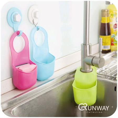 【R】創意 按扣式 水槽 置物架 廚房 海綿 瀝水架 水龍頭 多用 收納 掛籃