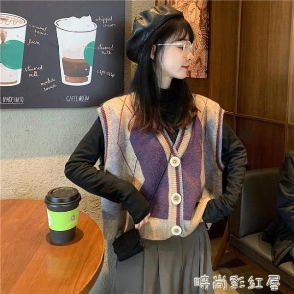 針織馬甲女韓版寬鬆外穿網紅文藝復古V領無袖毛衣馬夾背心外套潮 裝飾界