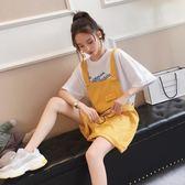 韓版寬鬆學生百搭吊帶褲
