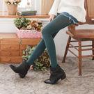 羊駝絨純色保暖褲襪(墨綠色)