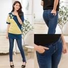 彈性口袋造型中腰彈力件仔褲 (此款版型偏小,推薦買大一碼) 【A7529】