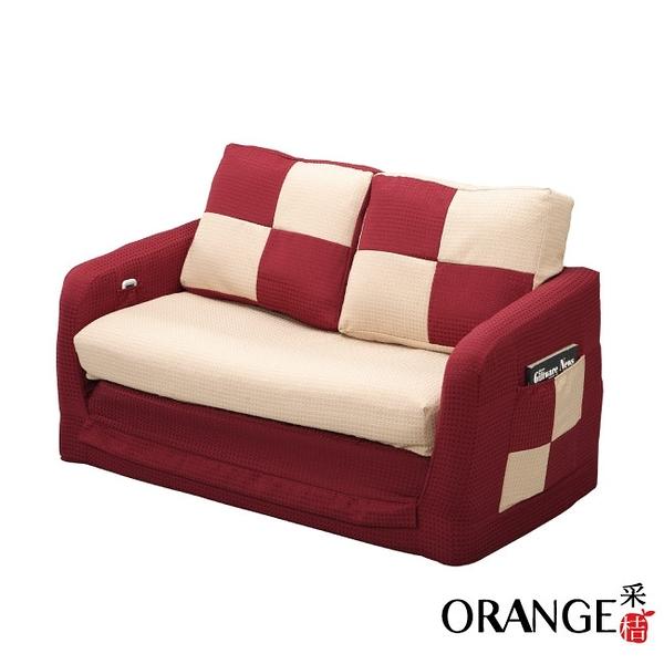 【采桔家居】保加利 時尚亞麻布拉合式機能沙發/沙發床(二色可選)