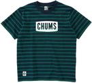 CHUMS Logo T-Shirt 女 短袖T恤 海軍藍/綠 CH111324N065【GO WILD】