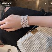手鍊 春夏新款珍珠編織手環ins推薦仙氣迷人優雅復古手鐲手飾 - 歐美韓