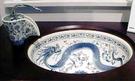 【麗室衛浴】美國 KOHLER Imperial Blue™ Vas下崁盆 K-14218-VB+彩繪青花單槍龍頭(鉻) K-11010-VB-0