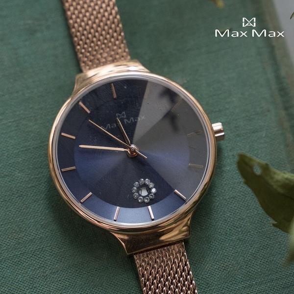 【完全計時】手錶館│MaxMax 原廠公司貨 靜謐藍尖錐鏡面款MAS7027-4