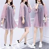 大尺碼XL-5XL韓版休閒兩件套裝裙26232韓版小清新吊帶防曬時尚兩件套 胖胖唯依