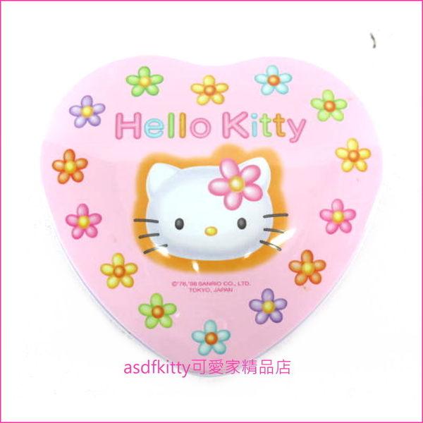asdfkitty可愛家☆kitty早期小花版愛心收納盒/禮物盒-1998年出品絕版商品-日本製