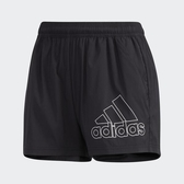 Adidas Shorts BOS [GJ9028] 女 短褲 運動 訓練 健身 休閒 短版 舒適 黑 白
