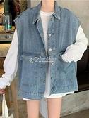 裝2010年新款牛仔外套女寬鬆韓版百搭無袖馬甲背心季春上衣 快速出貨
