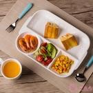 創意陶瓷日式分格快餐盤家用成人一人食餐具...