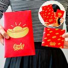 新年 2017 雞年 創意 卡通 燙金 紅包袋 過年 壓歲錢 禮金包 結婚 婚宴 生日禮金 元寶 金條 一包6入