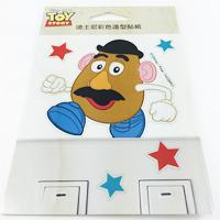 【收藏天地】迪士尼系列*裝飾貼紙-蛋頭先生(Mr.potato.head) 開關貼
