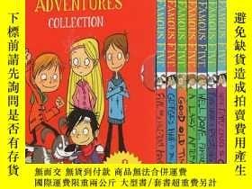 二手書博民逛書店英文原版罕見The Famous Five Adventures 9冊 五個小夥伴歷險記 Enid Blyton