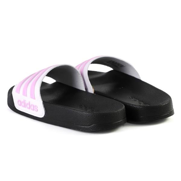 ADIDAS 愛迪達 ADILETTE SHOWER K 拖鞋 中童 粉紫 NO.R6933(FY8843)