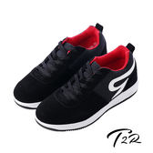 【韓國T2R】時尚牛仔拼布男款內增高休閒鞋 ↑6cm 黑(5600-0219)