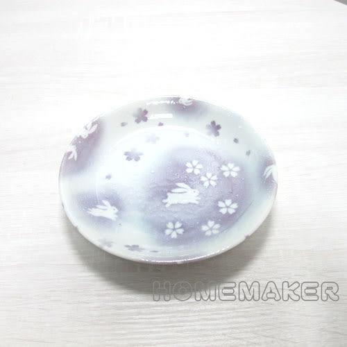 紫色玉兔點心皿(小)_JK-13657
