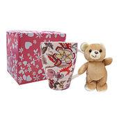(滿3件$399)璀璨繁花馬克杯+可愛熊棕~指定商品需滿3件以上才可出貨