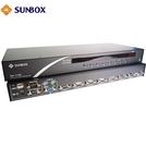 8埠USB+PS/2+VGA KVM切換器(SK1708) SUNBOX台製