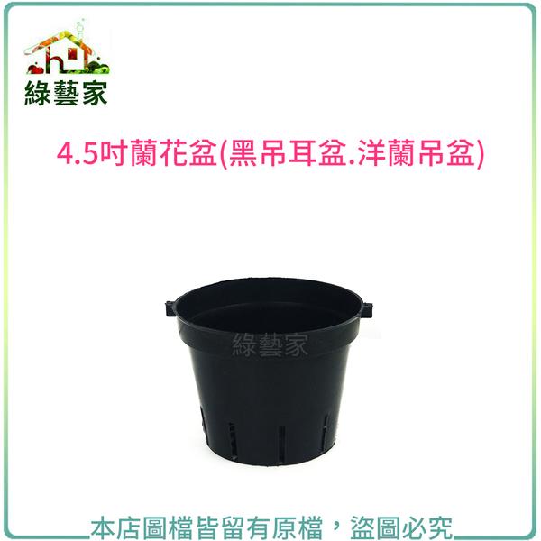 【綠藝家】4.5吋蘭花盆(黑吊耳盆.洋蘭吊盆)