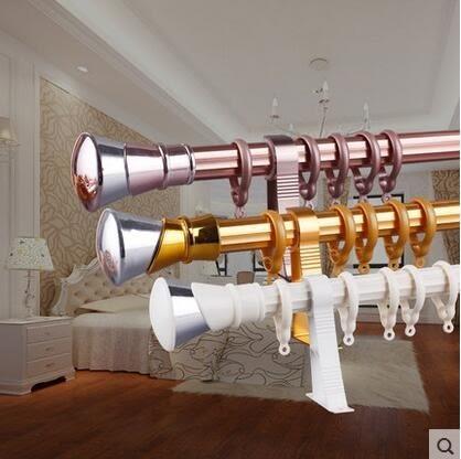 食尚玩家 窗簾杆羅馬杆加厚鋁合金靜音單杆雙杆支架送配件窗簾軌道配件齊全